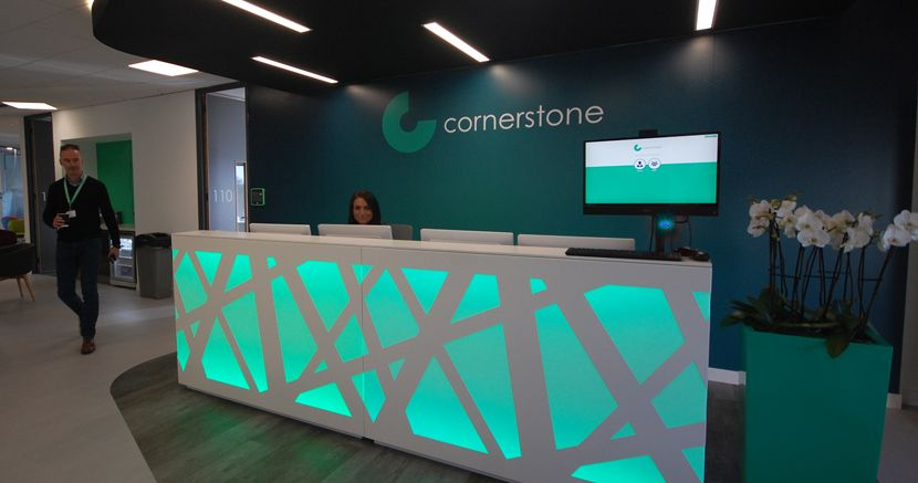 Cornerstone's new brand and office