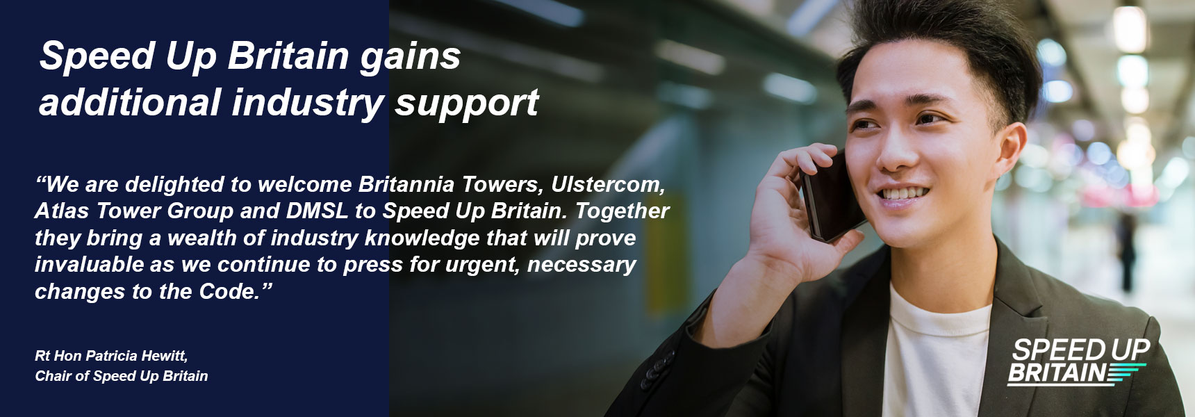 Speed Up Britain gains additional industry support